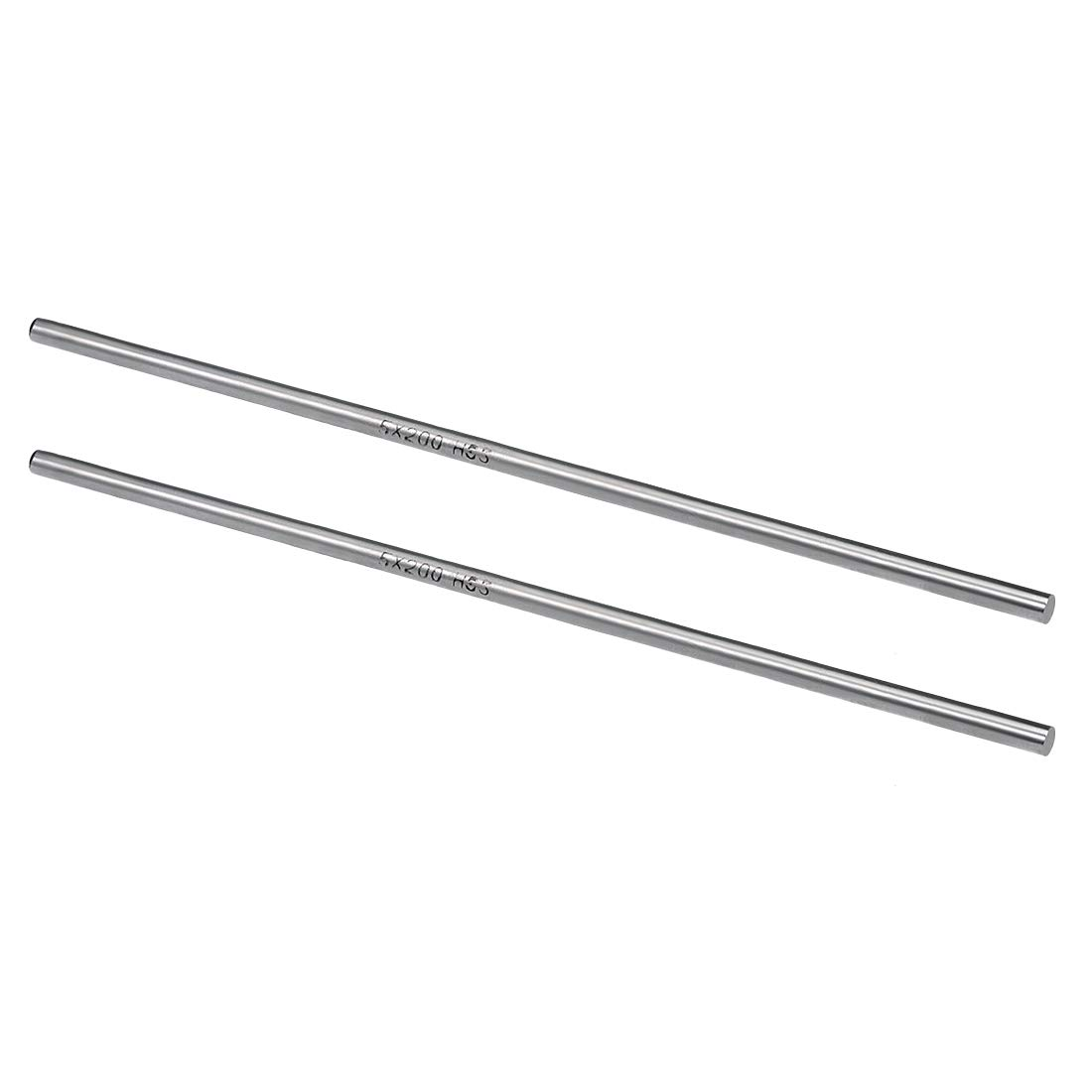sourcing map HSS Lathe Round Rod Solid Shaft Bar 6mm Dia 200mm Length