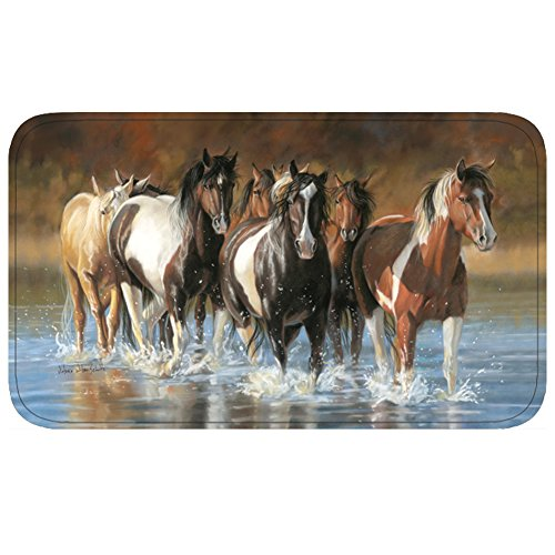 River's Edge Rush Hour Memory Foam Mat, 31.5 x (Western Bath Mat)