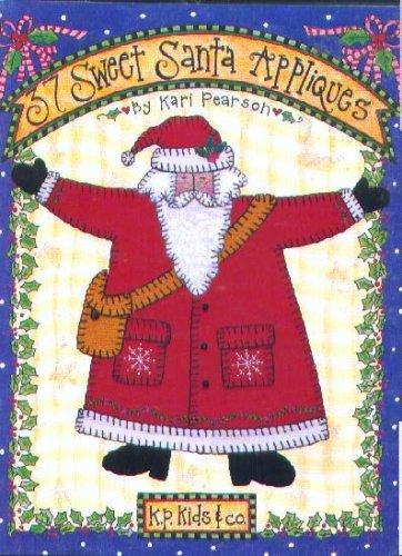37 Sweet Santa Appliques