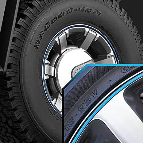 Amazon.com: Bandas de rueda cielo azul en negro Pinstripe ...