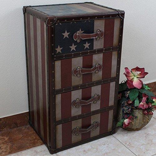 International Caravan Americana 'Stars and Stripes' 4-Drawer Chest - Bar Stool Americana