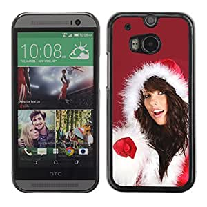 YOYO Slim PC / Aluminium Case Cover Armor Shell Portection //Christmas Holiday Sexy Hot Girl Woman 1021 //HTC One M8