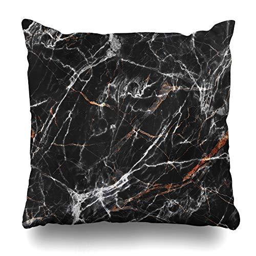 (Ahawoso Throw Pillow Cover Granite Brown Stone Marble Black Gold Polished Beige Onyx Light Italian Design Deep Decorative Pillowcase Square 20x20 Home Decor Zippered Cushion Case)