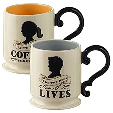 For the Rest of Our Lives Couples Coffee Mug His Hers Set of 2 Mugs