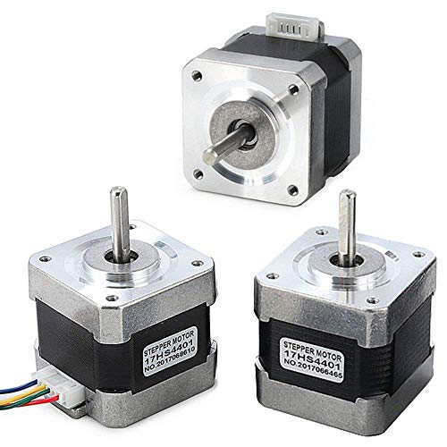 Stepper Motor Nema 17, 3 PCS Nema 17 Stepper Motor 4-Lead 1.8 Deg 40N.cm Holding Torque 1.7A 42 Motor for 3D Printer Hobby CNC Router XYZ by Beauty Star