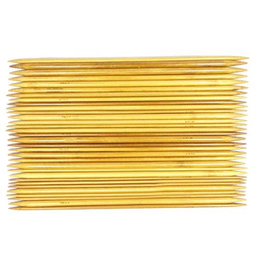 joyliveCY Doppel 11 Art Spitz zulaufend Stricknadeln Bambus, Weben Nadeln Handwerk Werkzeuge Zubeh?r Zubeh?r
