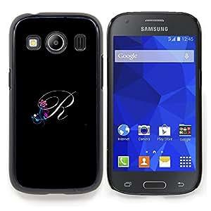 SKCASE Center / Coque Housse Case Etui Cover - Noir Initiales Lettre Calligraphie texte - Samsung Galaxy Ace Style LTE/ G357