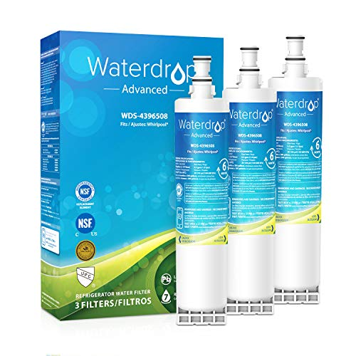 Waterdrop 4396508 NSF 53&42 Certified Refrigerator Water Filter, Compatible with Whirlpool 4396508, 4396510, 4392857, Kenmore 46-9010, NLC240V, EveryDrop Filter 5, EDR5RXD1, PUR W10186668, Pack of 3 (Ksc24c8eyy02 Water Filter)