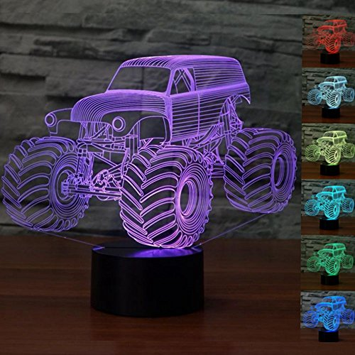 3D Illusion Led Lamps 7 Colors Touch Switch Table Desk Lamp For Home Office Childrenroom Theme Decoration And Kiddie Kids Children Family Holiday Gift
