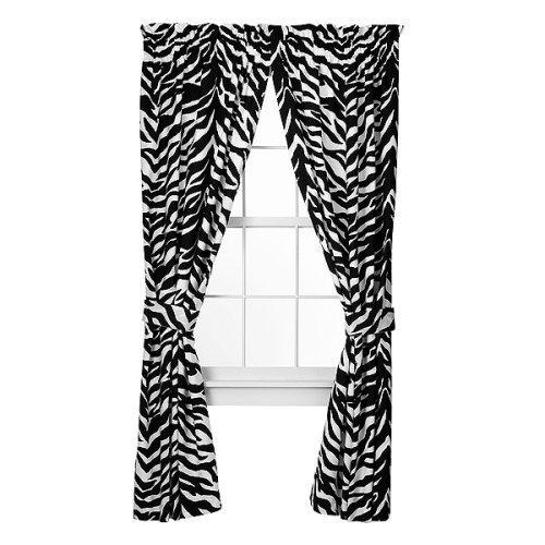 Good Amazon.com: Zebra Print Window Panel Curtains, Set Of 2: Home U0026 Kitchen Design