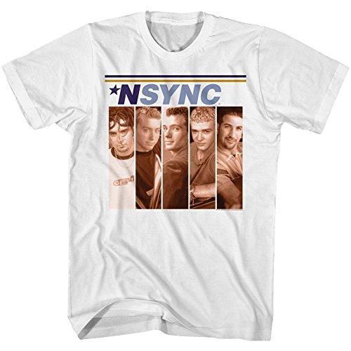 (A&E Designs NSYNC Tall T-Shirt Debut Album Cover White Tee, 3XLT)