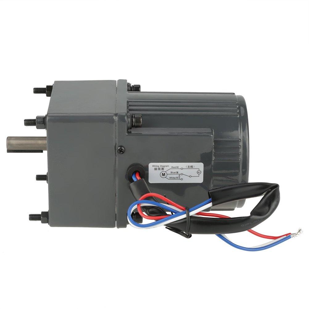 CW//CCW kleine Flie/ßb/änder usw AC 220 V Untersetzungsgetriebemotor 25 W einphasiger Metallgetriebemotor mit niedriger Drehzahl f/ür automatische Maschinen