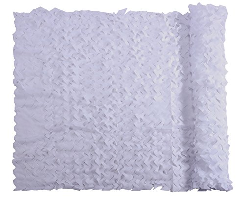 Camo Netting, Camouflage Net White 5 X 6.56 FT Nets Lightweight Durable for Sunshade Decoration Hunting Blind Shooting