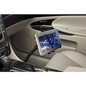 """Premium Seat Bolt Car Mount Vehicle Holder for Samsung Galaxy Tab S3 S4 A E S9 8 S7 Plus Note 9 8 Apple iPad Mini iPhone X 8 7 6 Plus / LG G7 V35 Q8 (5-8"""") Phones or Tablets w/ Vibration-Free Cradle"""