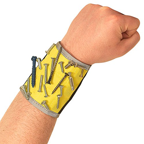 BYKES Extra Large Magnetic Wristband for Holding Tools Screws Nails Bolts Screwdriver & Drilling Bits Perfect Handyman Gear for DIY Do It Yourself Auto Repair Home Projects