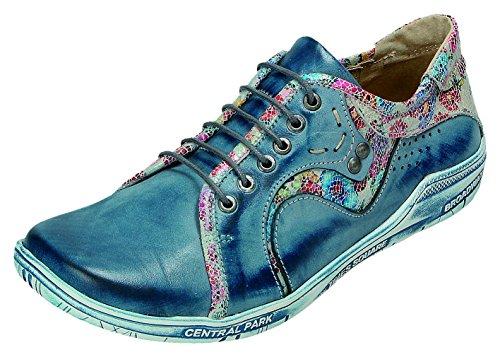 Blau komb de Zapatos Komb Gris Para MICCOS blau Cordones Mujer nzYxCw44q