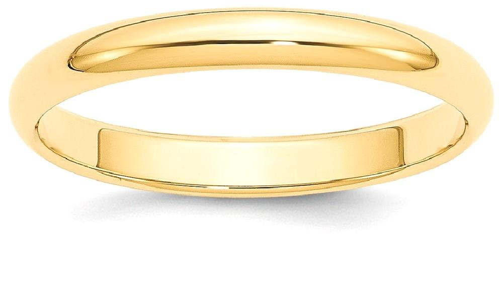 ICE CARATS 14k Yellow Gold 3mm Half Round Wedding Ring Band Size 6.50 Classic Domed Fine Jewelry Gift Set For Women Heart