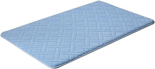 Kylin Express Absorbent Non-Slip Door Mat Entry Mats Doormat Floor Carpet Rug, Rhombus, Blue