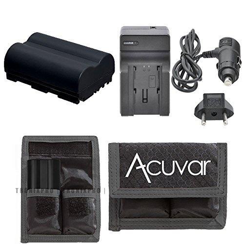 (BP-511 High-Capacity Battery + Car/Home Charger + Acuvar Battery Pouch For Canon DM-FV300 KIT, DM-FV40 KIT, DM-MV30, DM-MV400, DM-MV400i, DM-MV430, DM-MV450, DM-MV450i, DM-MV600, DM-MVX1i & More)