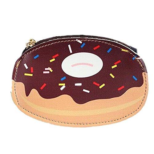 Cute Creative Storage Coin Handbag (Hamburgers, Donuts,Popcorn, Pizza, Strawberry Cake, Rainbow Cake, Ice Cream) (5.5 (Cute And Creative Costumes)