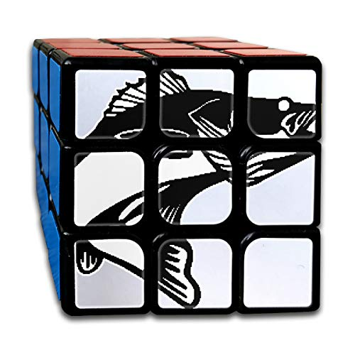 Rubiks Cube, Walleye Fish Speed Cube 3x3x3, 3x3 Magic Cube Puzzle Toy