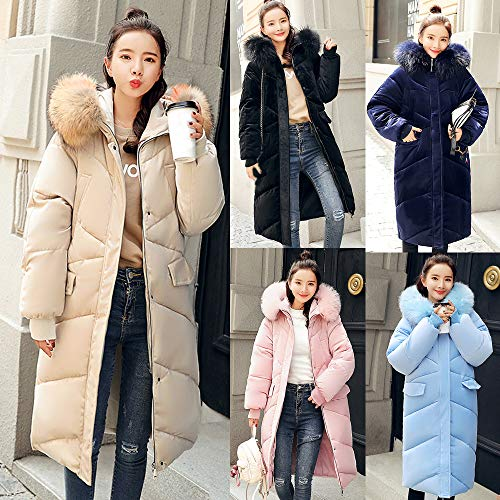 Vicgrey Rosa Caldo ❤ Donna Cappotto Parka Giubbotto Solido Inverno Sottile Casual Autunno Invernale Moda Outwear rragwH