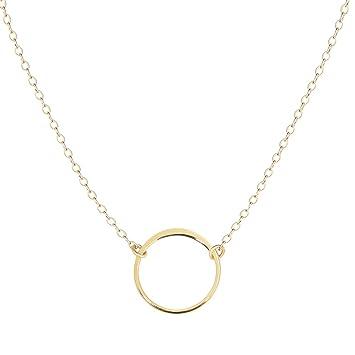 775fb1e0eda Amazon.com: Karma Open Circle Necklace, Dainty 14k Gold Filled, Won ...