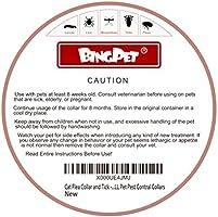 BINGPET Collar de pulgas para gato y garrapatas, mejor tratamiento de control de pulgas para gatito, 8 meses de protección efectiva