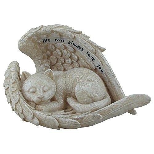 "Comfy Hour 5"" Cat in Angel Wing Figurine - in Memory of My Best Friend Bereavement"