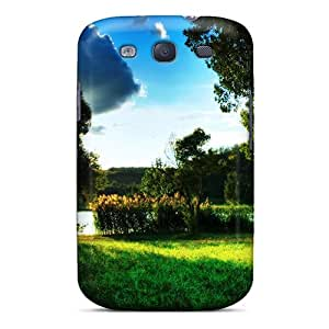 JohnRapper QMVGS16920LmnkJ Case For Galaxy S3 With Nice A Beautiful Day By The Lake Appearance
