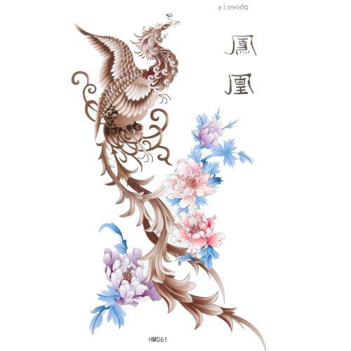 GGSELL King Horse Body painting tattoo stickers waterproof male and female sexy phoenix peony (Phoenix Tattoo)