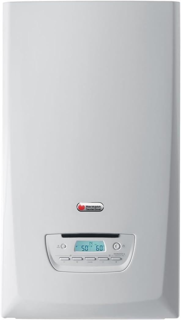 Hermann Saunier Duval 10018898 - Caldera de pared de condensación con acumulador integrado, modelo Themafast 4, condensación 35, color blanco