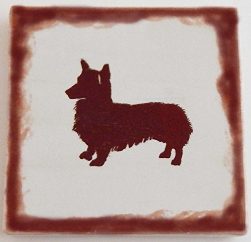 Pembroke Welsh Corgi Coasters Set of 4 Ceramic Tile Pottery ()