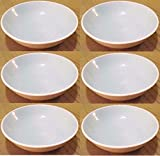 Set of 6 Vintage 5.5'' HARKERWARE Light or Sky Blue Dessert or Soup Bowls NICE