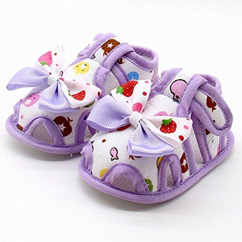 Fiore Neonata Con Bella Confortevole Neonate Scarpine Viola 18 0 Kission Mesi RFxY17wqx