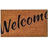 Ninamar Door Mat Welcome Natural Coir – 29.5 x 17.5 inch