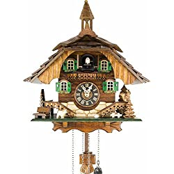 Quartz Cuckoo Clock Black forest house EN 444 Q
