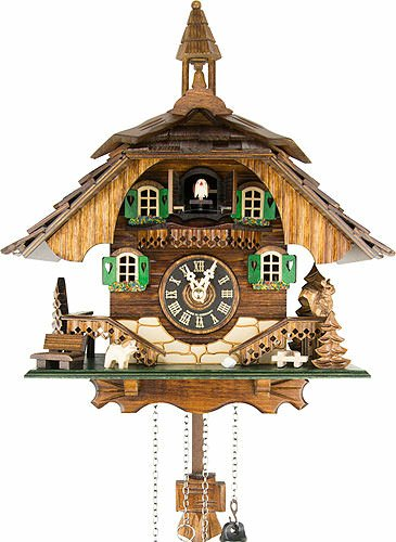 Quartz Cuckoo Clock Black forest house EN 444 Q Engstler