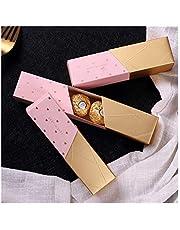 TAIYUANNT presentförpackning 10 st godislåda i brons chokladlådor present bröllop bonbon läppstift modellering rektangulär presentask födelsedagspresent