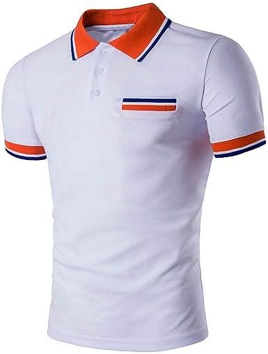 Polo Camisa 2018 Moda para Hombre Botones Diseño Mode De Media Cardigans Marca De Manga Corta Camisa Polo Slim Fit Casual Camiseta: Amazon.es: Ropa y accesorios