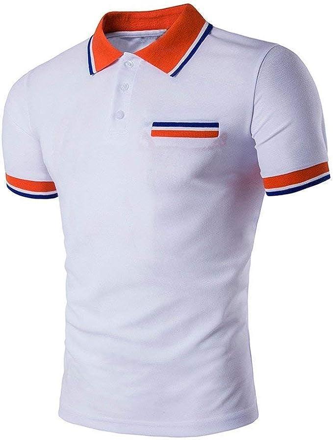 Polo Camisa 2018 Moda para Hombre Botones Diseño Mode De Media ...