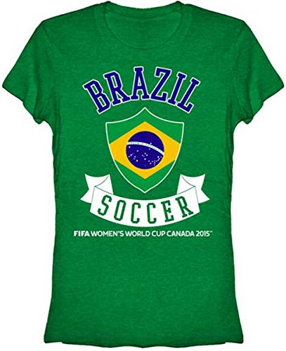 FIFA Womens World Cup Canada 2015 Brazil Banner Juniors T-shirt-large