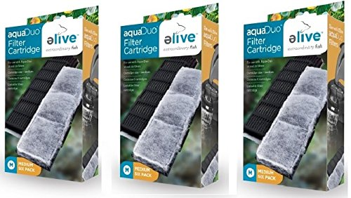 Elive Aqua-Duo Filter Cartridges - 18 Pack (3 Packages with 6 Filters per Package)