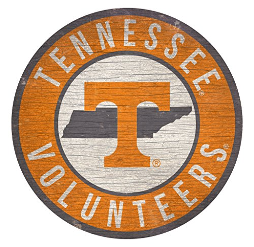 Fan Creations Tennessee Volunteers Sign Wood 12 Inch Round State Design
