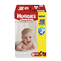 HUGGIES Snug & Dry Diapers, Size 2, 140 Count