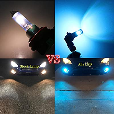 Alla Lighting 2000 Lumens PS24W 5202 LED Fog Light Bulbs 5201 Daytime Running Light 8000K Ice Blue 12V PS19W 12085 DRL for Cars, Trucks: Automotive
