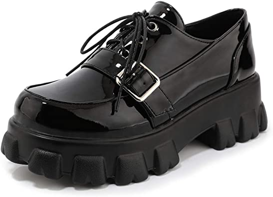 Womens Round Toe Buckle Strap Heart Sweet Flats Shoes Creepers Ankle Boots Shoes