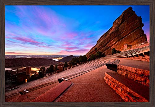 Denver, Colorado - Red Rocks Park - Photography A-93473 (36x24 Giclee Art Print, Gallery Framed, Espresso Wood) ()