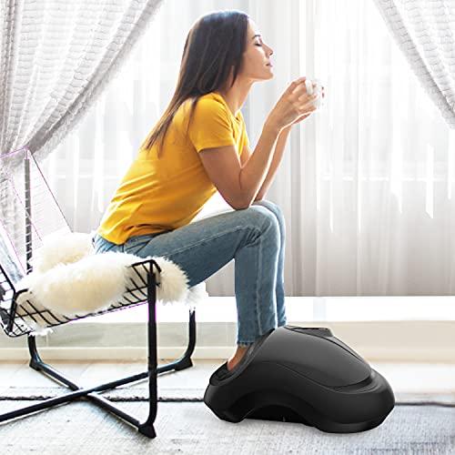 SHINE WELL Shiatsu Foot Massager Machine with Heat, Remote Control, Deep Kneading, Slabway Foot Massager Help with Plantar Fasciitis, Diabetics, Neuropathy