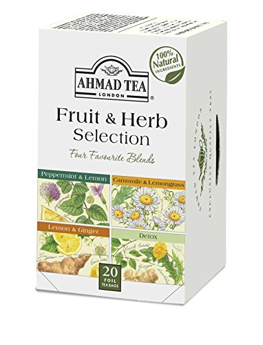 Ahmad Tea Fruit & Herb Selection Wellness & Detox Blends in